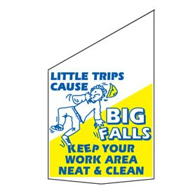 Motivational Pole Banners - Little Trips Cause Big Falls
