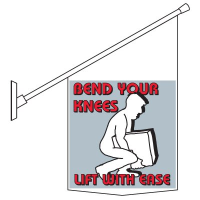 Bend Your Knees Pole Banner