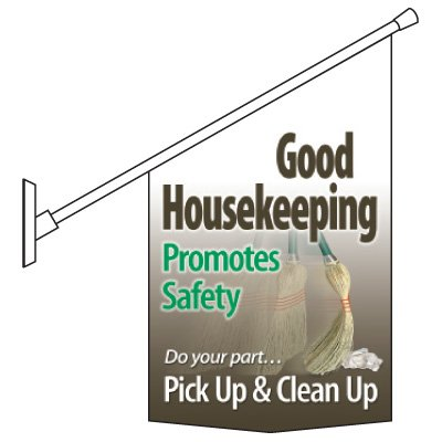 Housekeeping Promotes Safety Pole Banner