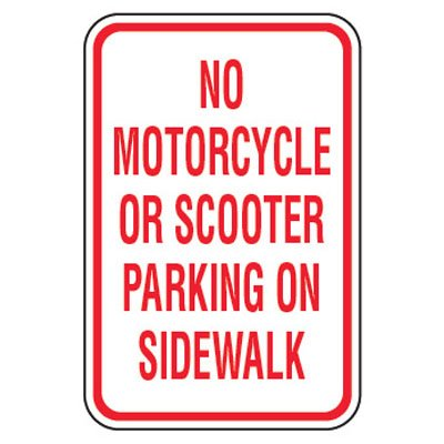No Parking Signs - No Motorcycle Or Scooter Parking