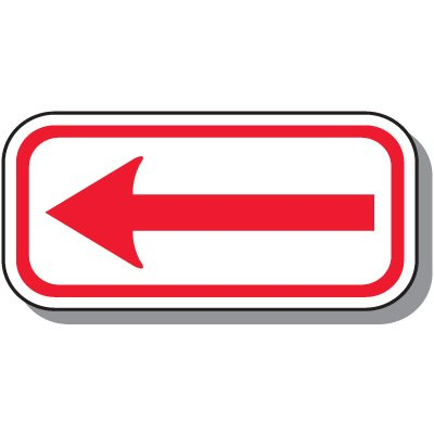 No Parking Signs - One-Way Arrow