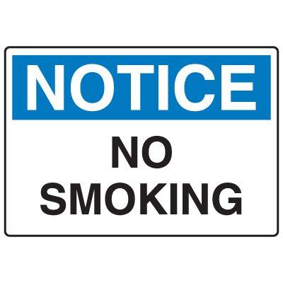 No Smoking Signs - Notice No Smoking