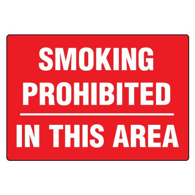No Smoking Signs - Smoking Prohibited