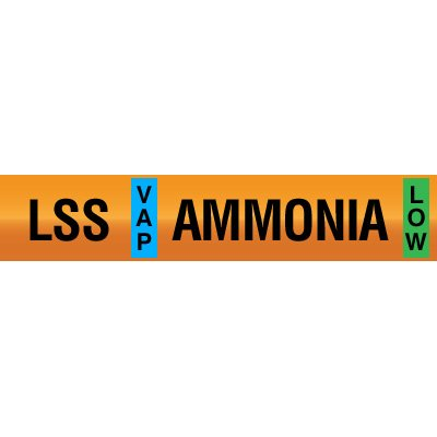 Opti-Code™ Ammonia Pipe Markers - Low Stage Suction