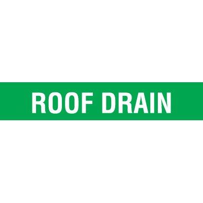 Opti-Code Pipe Markers - Roof Drain