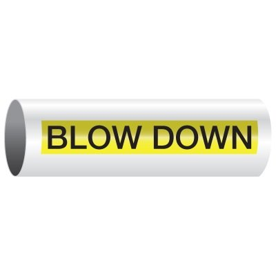 Opti-Code™ Self-Adhesive Pipe Markers - Blow Down