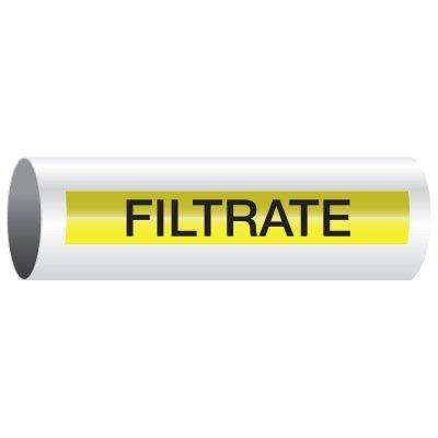 Opti-Code™ Self-Adhesive Pipe Markers - Filtrate