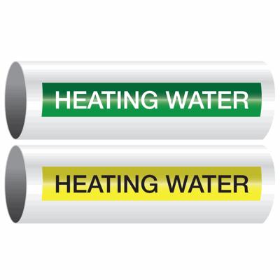 Opti-Code™ Self-Adhesive Pipe Markers - Heating Water