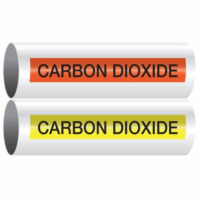 Opti-Code™ Self-Adhesive Pipe Markers - Carbon Dioxide