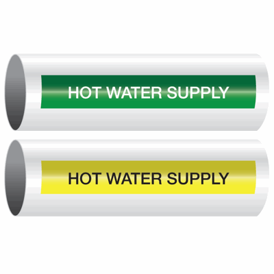 Opti-Code™ Self-Adhesive Pipe Markers - Hot Water Supply