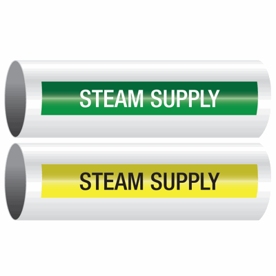 Opti-Code™ Self-Adhesive Pipe Markers - Steam Supply