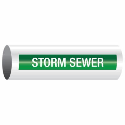 Opti-Code™ Self-Adhesive Pipe Markers - Storm Sewer