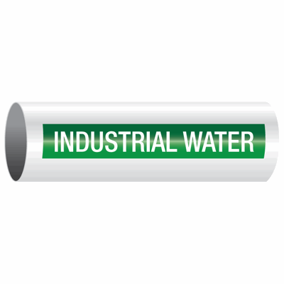 Opti-Code™ Self-Adhesive Pipe Markers - Industrial Water