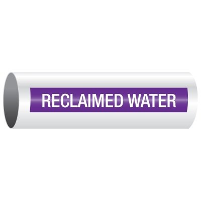 Opti-Code™ Self-Adhesive Pipe Markers - Reclaimed Water