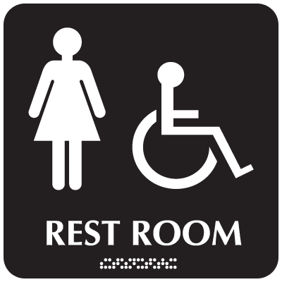 Women's Handicapped Access Restroom Signs