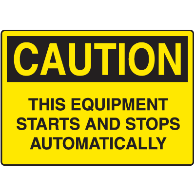 Caution Signs For Rough And Curved Surfaces
