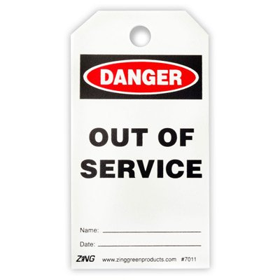 Out of Service - Zing® Eco Safety Tag