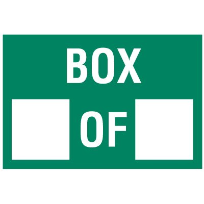 Box Of Package Handling Label