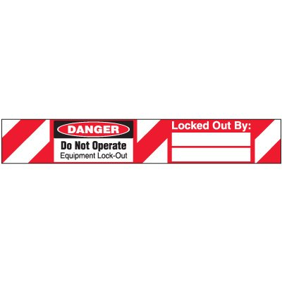 Do Not Operate Padlock Equipment Lock-Out Label