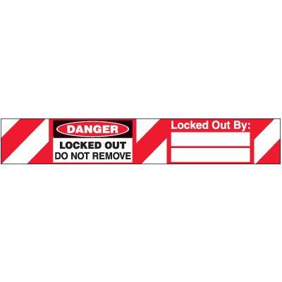 Danger Locked Out Padlock Label
