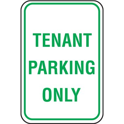 Parking Enforcement Signs - Tenant Parking Only