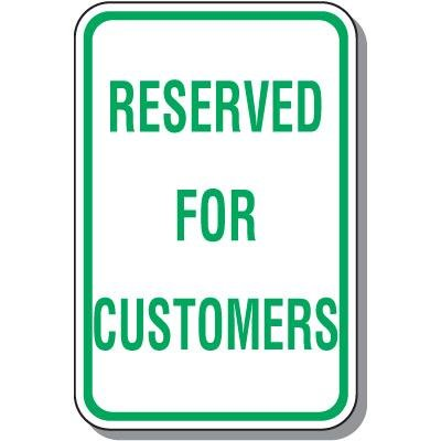 Parking Signs - Reserved for Customers