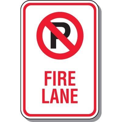 No Parking Signs - Fire Lane