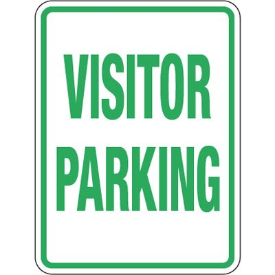 Pavement Message Signs - Visitor Parking