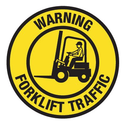 Pavement Message Signs - Warning Forklift Traffic
