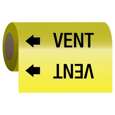 Self-Adhesive Pipe Markers-On-A-Roll - Vent