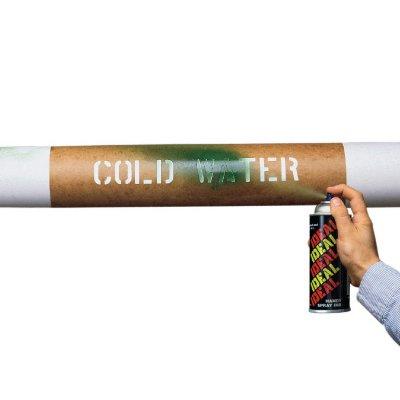 Pipe Stencils - Fuel Oil