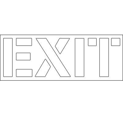 Plastic Word Stencils - Exit
