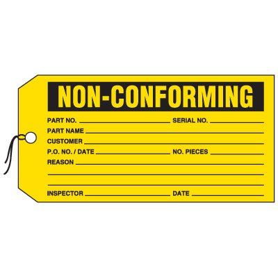 Production Control Tags - Non-Conforming