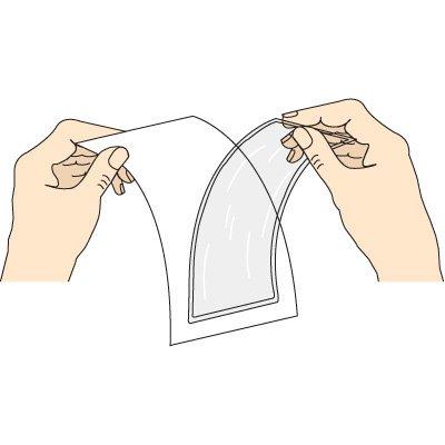 Adhesive-Backed Document Holder