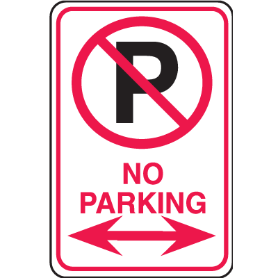 Plastic No Parking Signs - No Parking