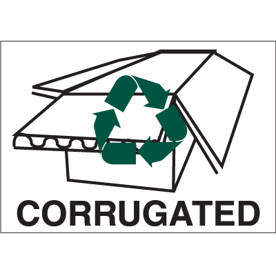 Recycling Labels - Corrugated