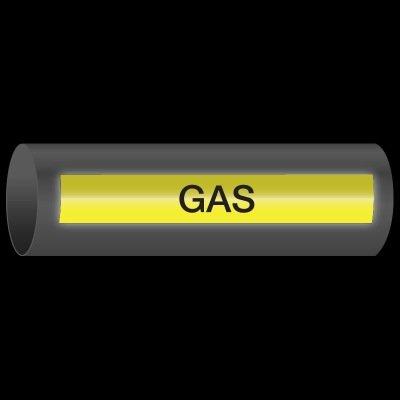 Reflective Opti-Code™ Self-Adhesive Pipe Markers - Gas