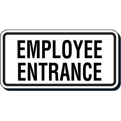 Reflective Parking Lot Signs - Employee Entrance