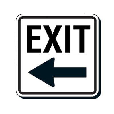 Reflective Parking Lot Signs - Exit (Left Arrow)