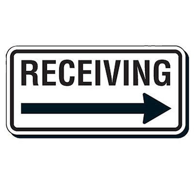 Reflective Parking Lot Signs - Receiving (Right Arrow)