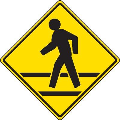 Reflective Pedestrian Crossing Signs - Pedestrian Crossing Symbol