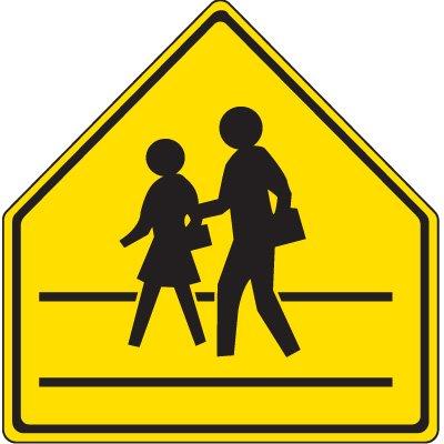 Reflective Pedestrian Crossing Signs - Pedestrians Crossing Symbol