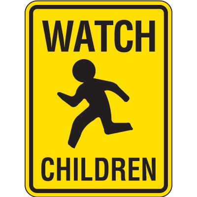 Reflective Pedestrian Crossing Signs - Watch Children