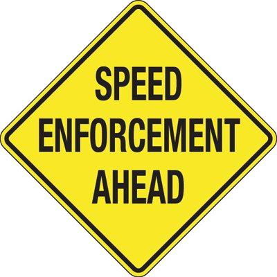 Reflective Speed Limit Signs - Speed Enforcement Area