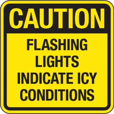 Reflective Traffic Signs - Caution Flashing Lights