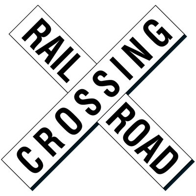 Reflective Traffic Signs - Railroad Crossing