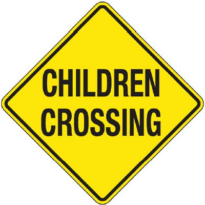 Reflective Warning Signs - Children Crossing
