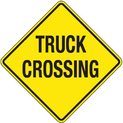 Reflective Warning Signs - Truck Crossing