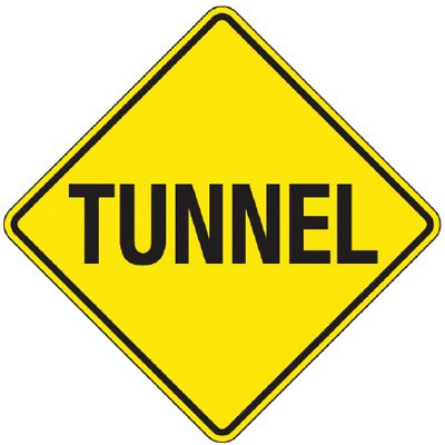 Reflective Warning Signs - Tunnel