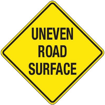 Reflective Warning Signs - Uneven Road Surface